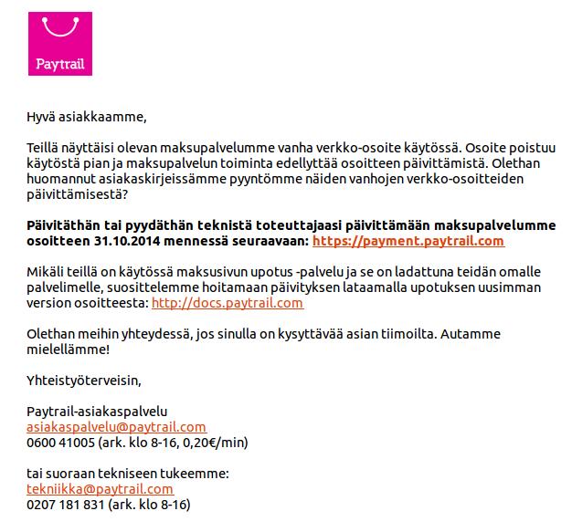 paytrail-kirje